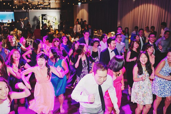 Dance floor at cargo hall