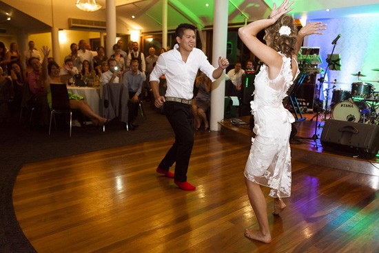 Dancing at Australian wedding