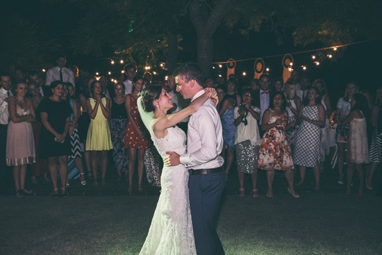 Dancing at outdoor wedding