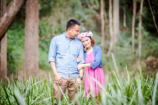 Engagement photos in Australian bushland
