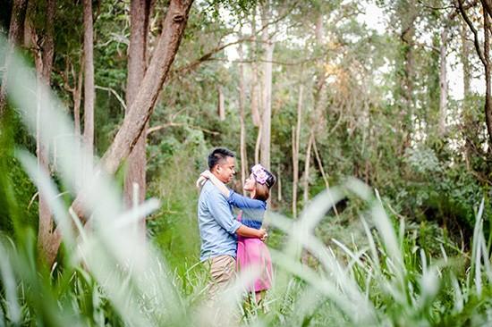 Engagement photos in bushland