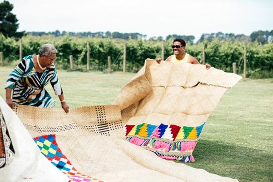Fijian wedding ceremony matts
