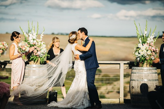 First kiss at Clyde Park Winery
