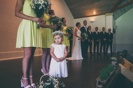 Flowergirl during ceremony
