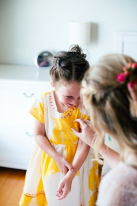 Flowergirl in yellow dress