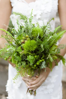 Foliage wedding bouquet