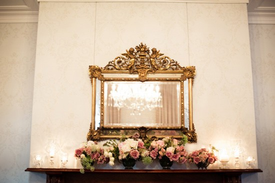 Gold mirror wedding decor