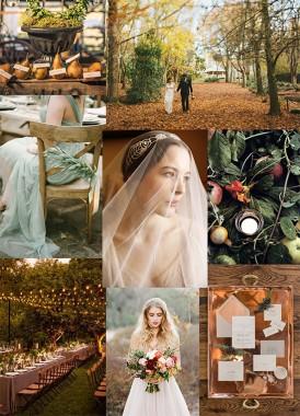 Green and copper autumn wedding ideas