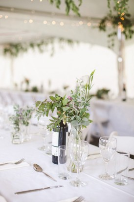 Greenery wedding centrepiece