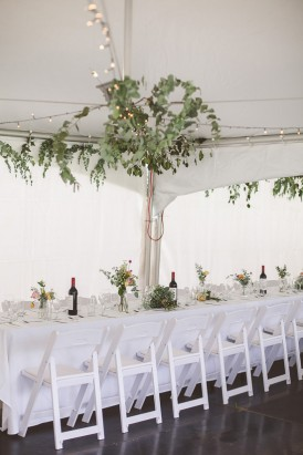 Greenery wedding chandelier