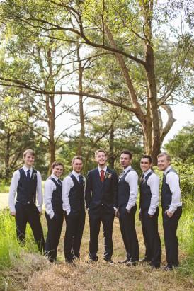 Groomsmen in waistcoats