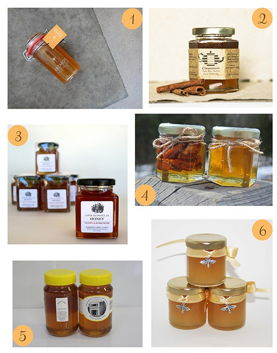 Honey Wedding Favours