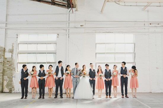 Industrial wedding photo location