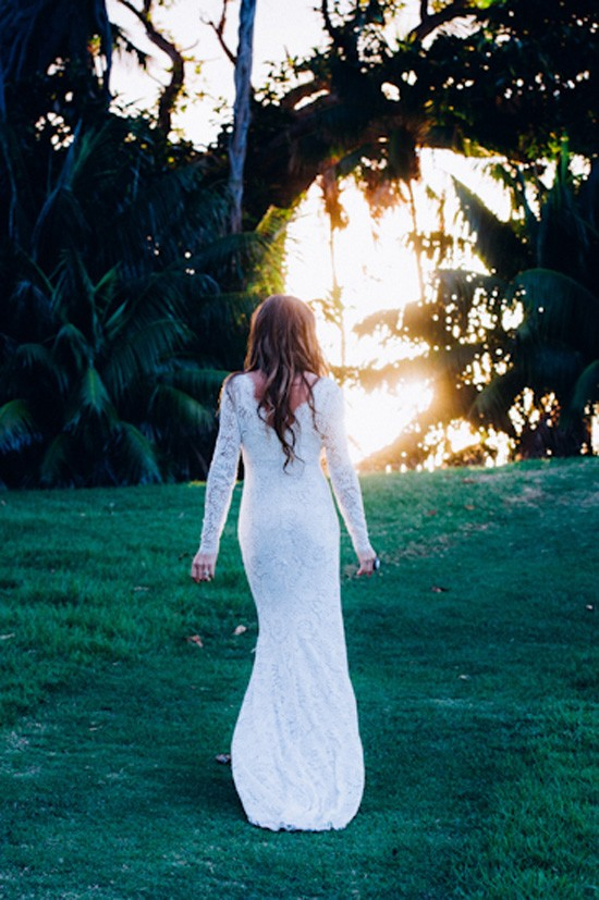 Island wedding bride