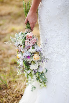 Lilac yellow and pink bouquet