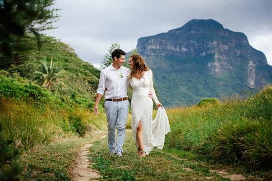 Lord Howe Island Newlyweds Walking