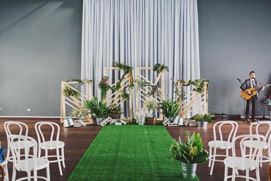 Modern wedding ceremony decor