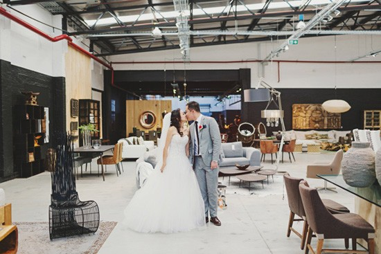 Modern wedding photo