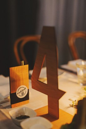 Modern wedding table numbers