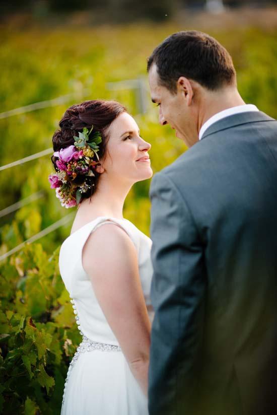 Newlyweds at Brookside Vineyard