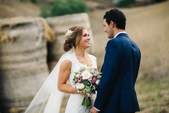 Newlyweds at Winery