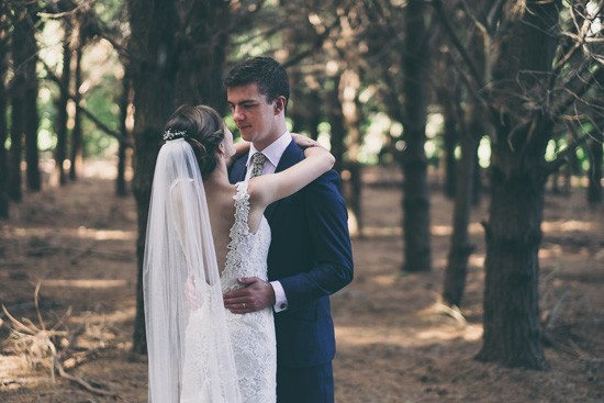Newlyweds in Australian forest