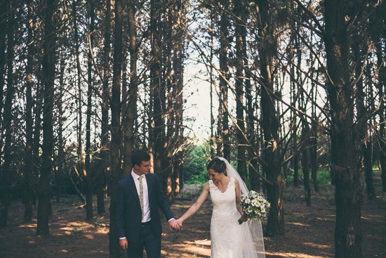 Newlyweds in Forest