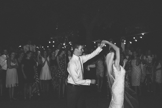 Outdoor wedding dance