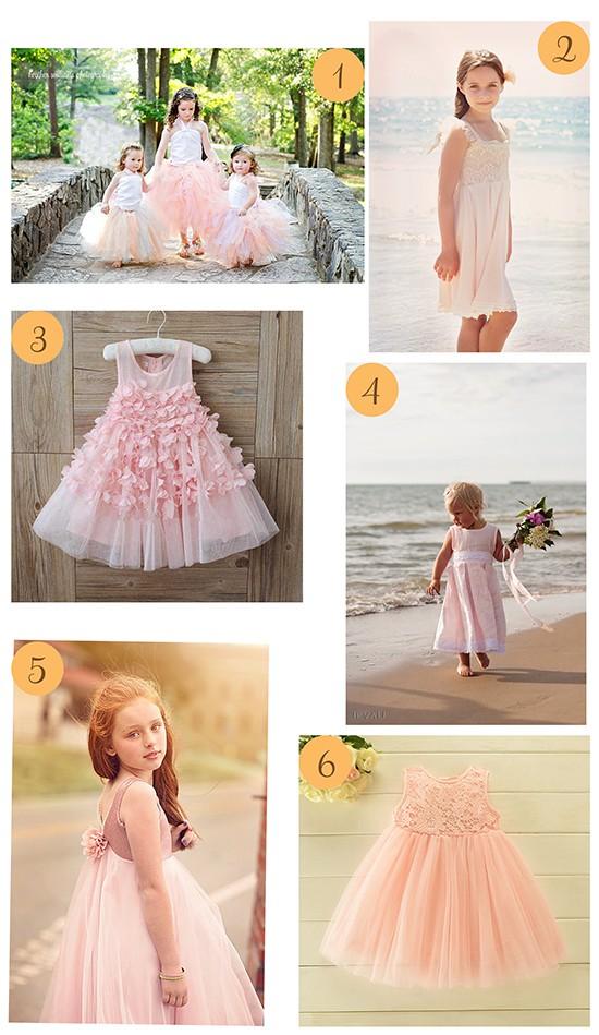 Pale Pink Flowergirl Dresses