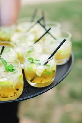 Passionfruit wedding cocktails