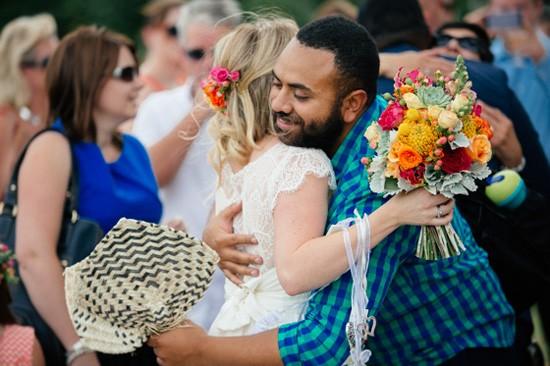 Post wedding hugs