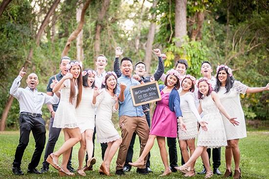 Pre wedding bridal party fun