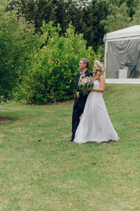 Real bride in Loren Chiffon from Grace Loves Lace