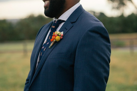 Red and orange boutonerrie