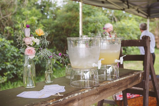 Spring wedding drink station
