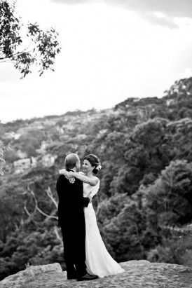 Syney black and white wedding photo
