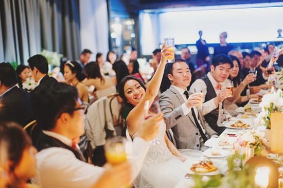 Toasting at melbourne wedding