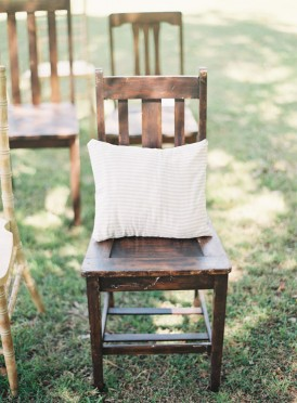 Vintage Chair With Cushion For Wedding