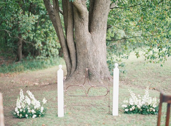 Vintage gate Wedding Ceremony decor