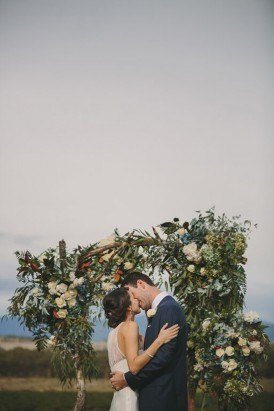 Wedding arbour made of greenery