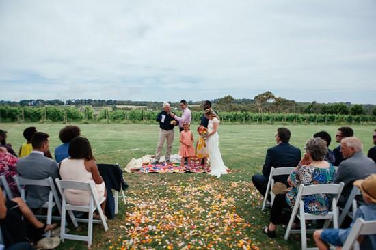 Wedding ceremony at Main Ridge