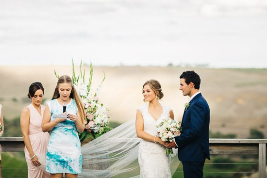 Wedding ceremony at vineyard