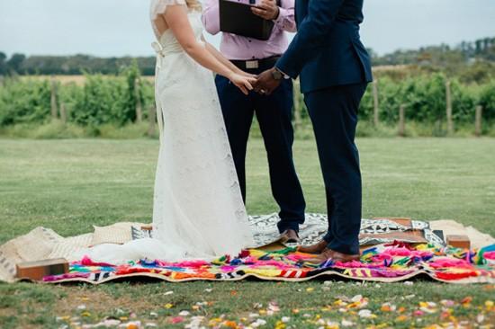 Wedding ceremony on Fijian Mats