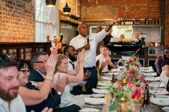 Wedding toasts at Trofeo Estate