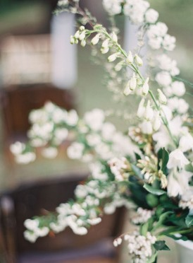White wedding floral arrangement