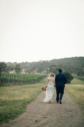 Winery wedding photo