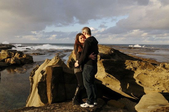 Winter beach engagement0013
