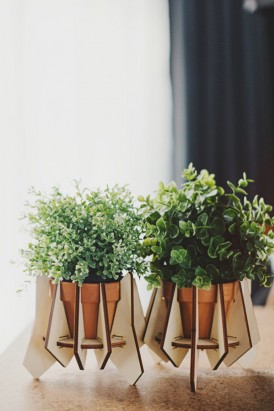 Wooden Laser cut plant holders