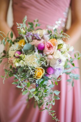Yellow and magenta bouquet