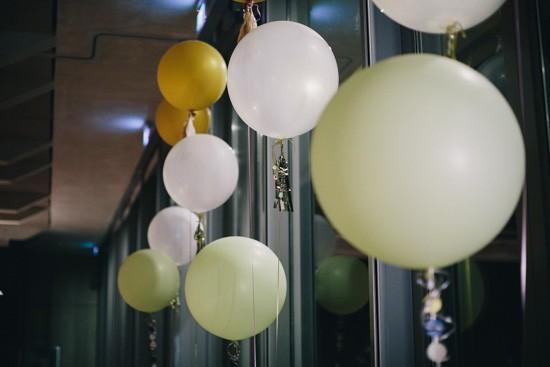 big round balloons wedding decor
